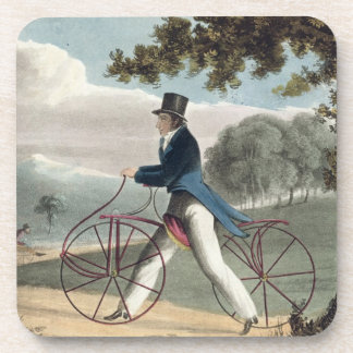 Pedestrian Hobbyhorse, from Ackermann's Repository Drink Coaster