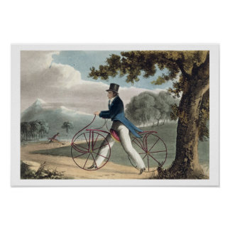 Pedestrian Hobbyhorse, from Ackermann's Repository Poster