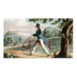 Pedestrian Hobbyhorse Vintage Bicycle Custom Business Card