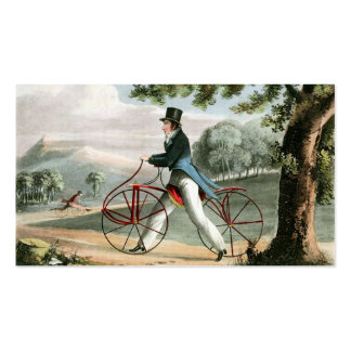 Pedestrian Hobbyhorse Vintage Bicycle Custom Double-Sided Standard Business Cards (Pack Of 100)
