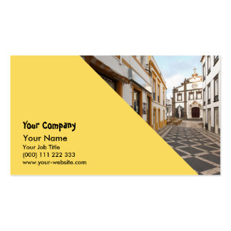 Pedestrian street business card