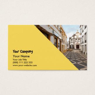 Pedestrian street business card