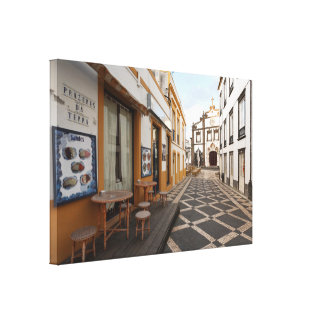 Pedestrian street gallery wrapped canvas
