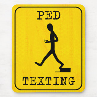 Pedestrian Texting Mouse Pad