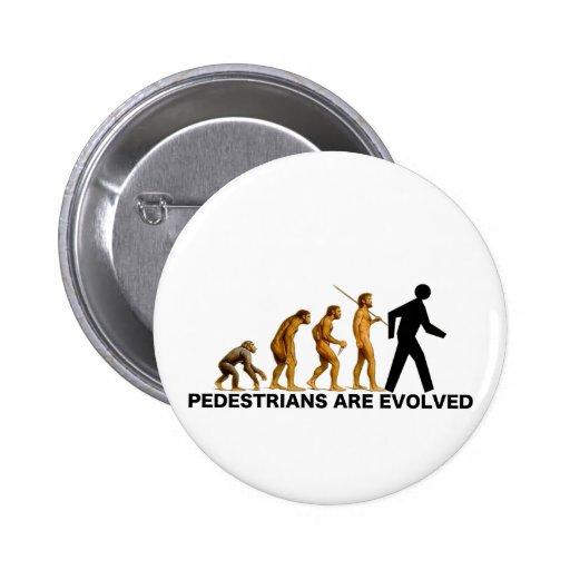 Pedestrians Are Evolved 2 Inch Round Button