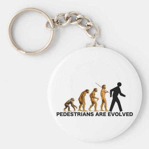 Pedestrians Are Evolved Basic Round Button Keychain