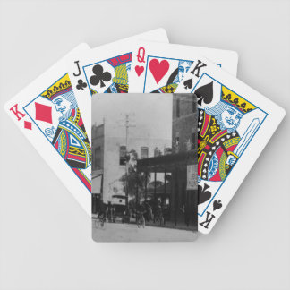 Pedestrians, cyclists, and horse-carriages bicycle playing cards