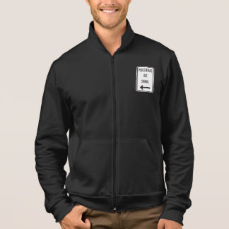 Pedestrians Use Signal Road Sign Mens Jacket