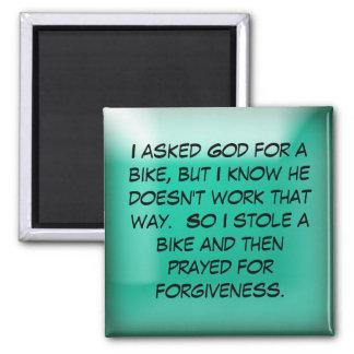 Pedí a dios una bici imán de nevera