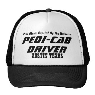 PEDI-CAB DRIVER Live Music Capital Of The Uni Mesh Hats