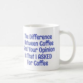 Pedí el café no sus tazas de las tazas de la