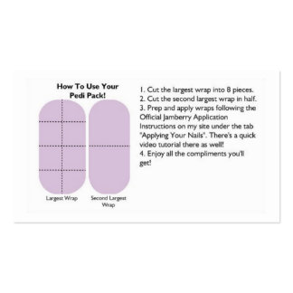Pedi Pack Cards Double-Sided Standard Business Cards (Pack Of 100)