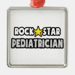 Pediatra de la estrella del rock ornaments para arbol de navidad
