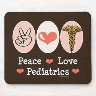 Pediatra Mousepad de la pediatría del amor de la p Alfombrillas De Raton