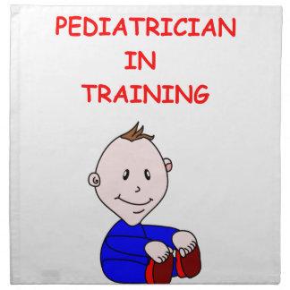 pediatra servilleta imprimida