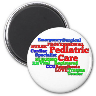PEDIATRIC CARE NURSE WORDS SCRAMBLE MAGNET