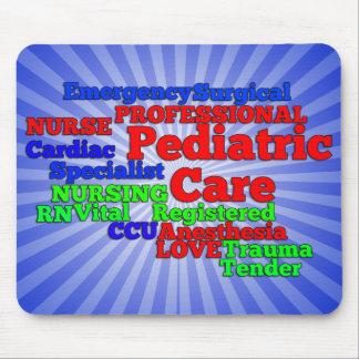 PEDIATRIC CARE NURSE WORDS SCRAMBLE MOUSE PAD