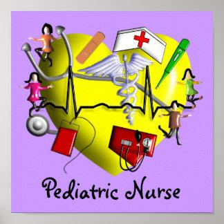 Pediatric Nurse Art Poster