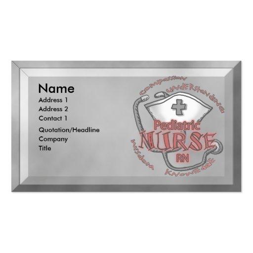 Pediatric nurse business card zazzle for Nurse business cards