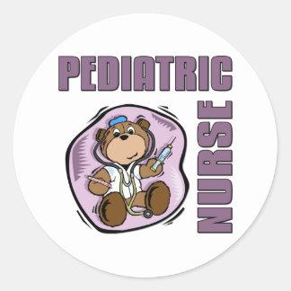 Pediatric Nurse Classic Round Sticker
