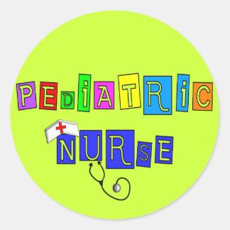 Pediatric Nurse Gifts Classic Round Sticker