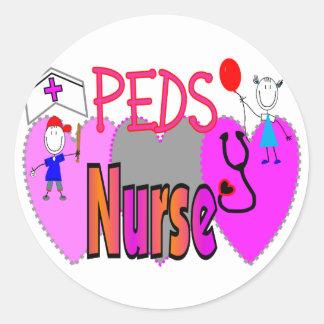 Pediatric Nurse Gifts, Unique Fun Designs Classic Round Sticker