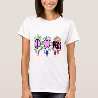 "Pediatric Nurse ""Peace-Love-Pediatrics"" Gifts T-Shirt"
