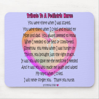 Pediatric Nurse Poem Gifts Mouse Pad