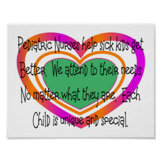 pediatric nurse poem heart posters