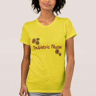 Pediatric Nurse Purple Flowers T-Shirt