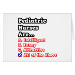 Pediatric Nurse Quiz...Joke Greeting Card