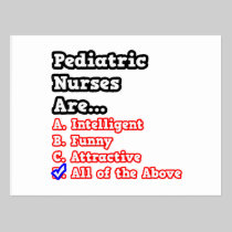 Pediatric Nurse Quiz...Joke Postcard