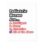 Pediatric Nurse Quiz...Joke Postcards