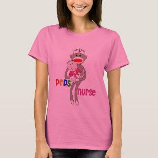 Pediatric Nurse Sock Monkey Design T-Shirt