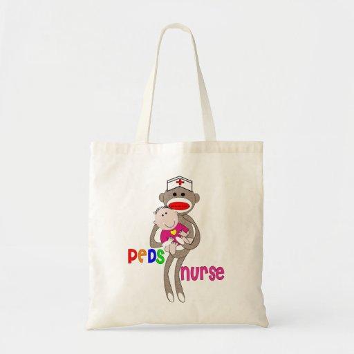 Pediatric Nurse Sock Monkey Tote bag