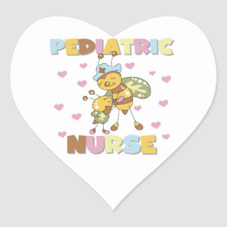 Pediatric Nurse T-shirts and Gifts Heart Sticker