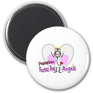 Pediatric Nurses are Angels 2 Inch Round Magnet