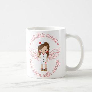 Pediatric Nurses Are Born With Wings Coffee Mug