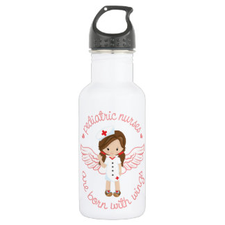 Pediatric Nurses Are Born With Wings Water Bottle