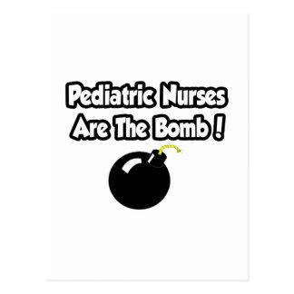 Pediatric Nurses Are The Bomb! Postcard