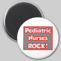 Pediatric Nurses Rock! 2 Inch Round Magnet