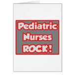 Pediatric Nurses Rock! Card