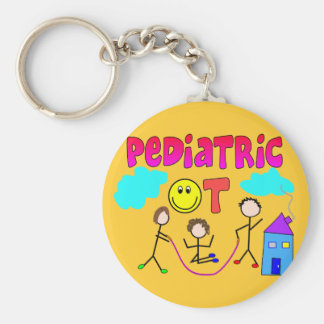 Pediatric Occupational Therapist Gifts Basic Round Button Keychain