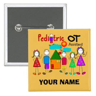 Pediatric Occupational Therapy Assistant Buttons