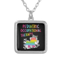 Pediatric Occupational Therapy OT Silver Plated Necklace