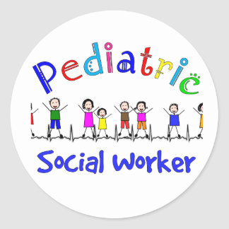 Pediatric Social Worker Gifts Classic Round Sticker