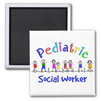 Pediatric Social Worker Gifts 2 Inch Square Magnet