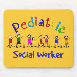 Pediatric Social Worker Gifts Mouse Pads
