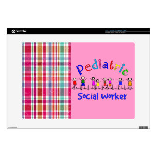 """Pediatric Social Worker Gifts Skin For 15"""" Laptop"""