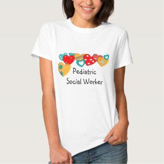 Pediatric Social Worker T-Shirt Hearts